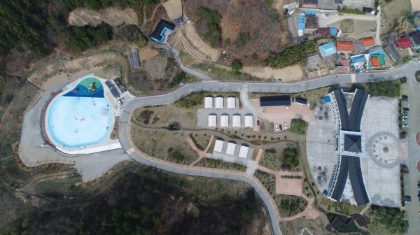 부여군 굿뜨래웰빙마을이 부여군 새로운 관광명소로 부각되고 있다.(사진=굿뜨레경영사업소 전경)